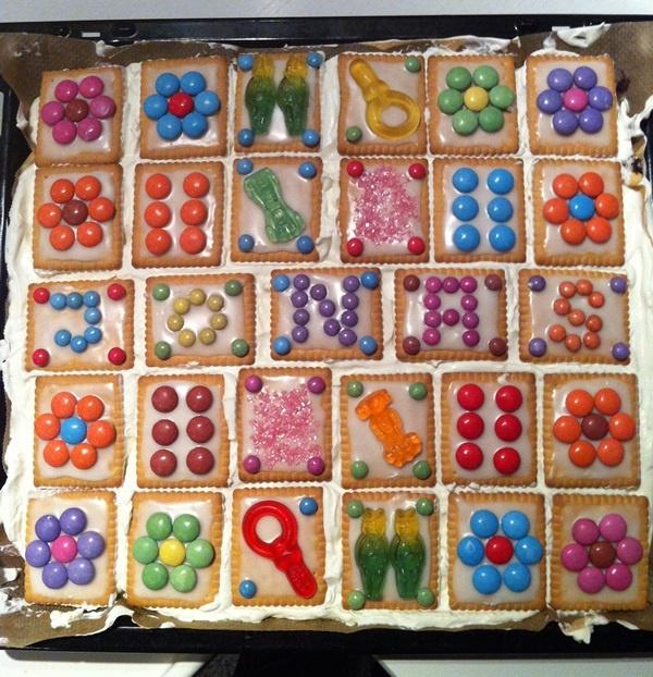 Butterkeks Geburtstagstorte