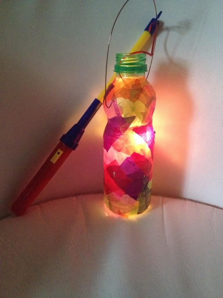 Eine PET Flaschen-Laterne