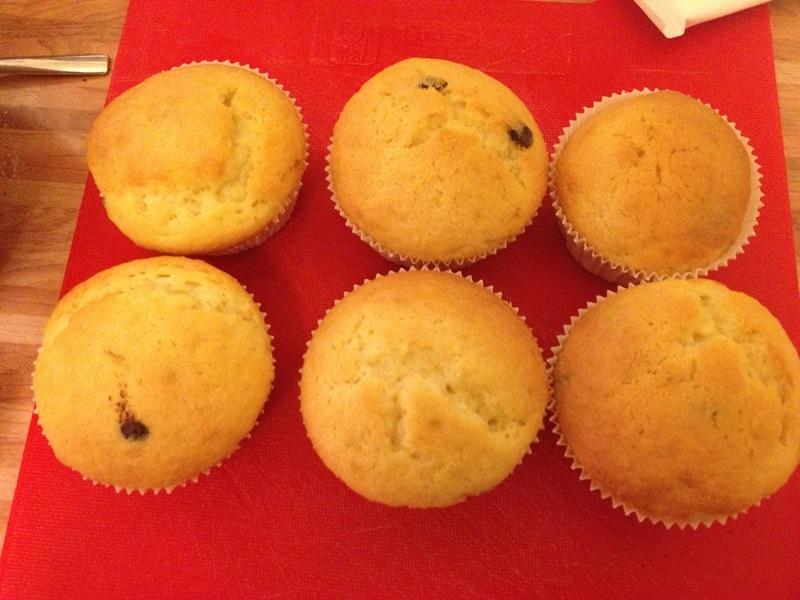 Die Muffins für unsere Schneemann Muffins