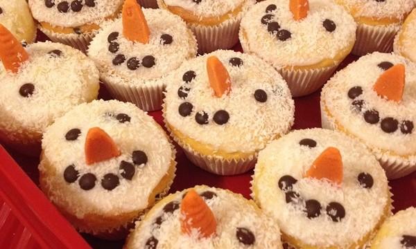 Schneemann Muffins