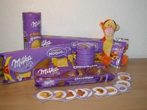 Milka Keks und Kuchen Sortiment