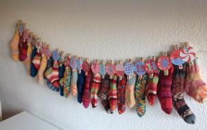 Adventskalender aus Socken