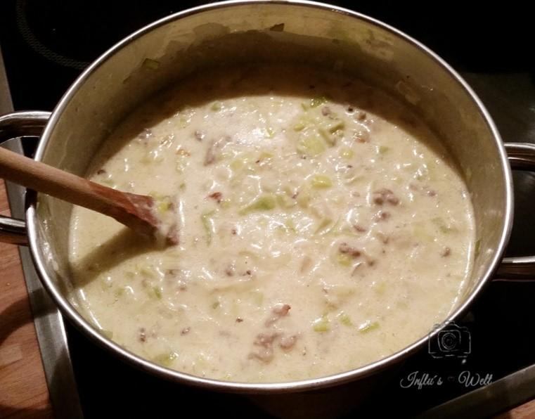 käse suppe mit hackfleisch