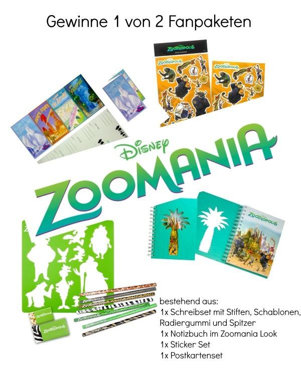 Verlosung Zoomania Fanpakete