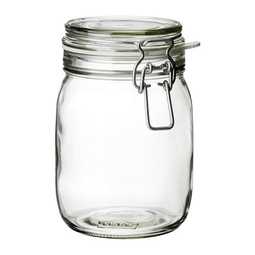 Ikea Vorratsglas mit Gummidichtung Serie Korken
