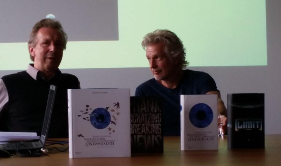 Frank Schätzing und sein Verleger Helge Malchow bei der #Lbc16