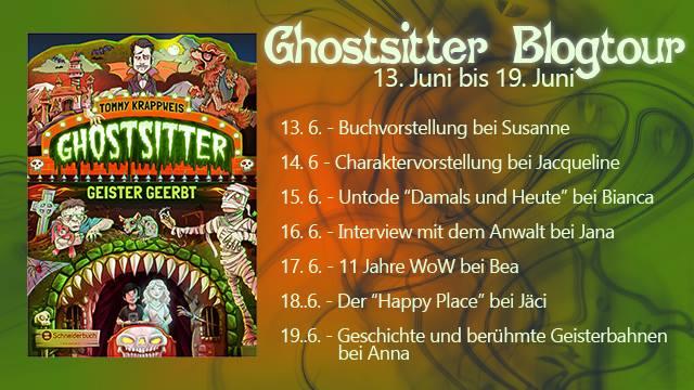 Fahrplan der Ghostsitter - Blogtour