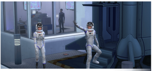 Astronauten Karriere in Sims4