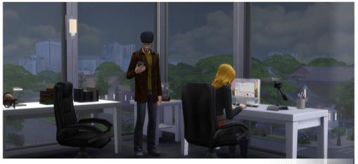 Schriftsteller Karriere in die Sims4