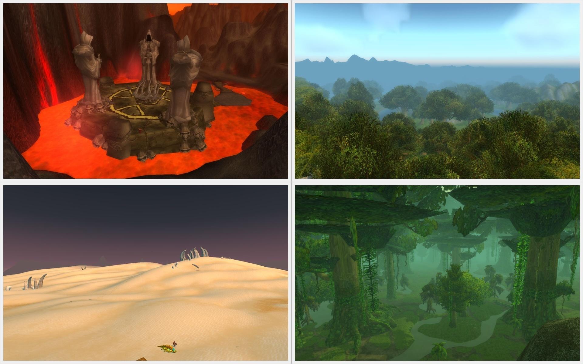 Einblicke in World of Warcraft Landschaften