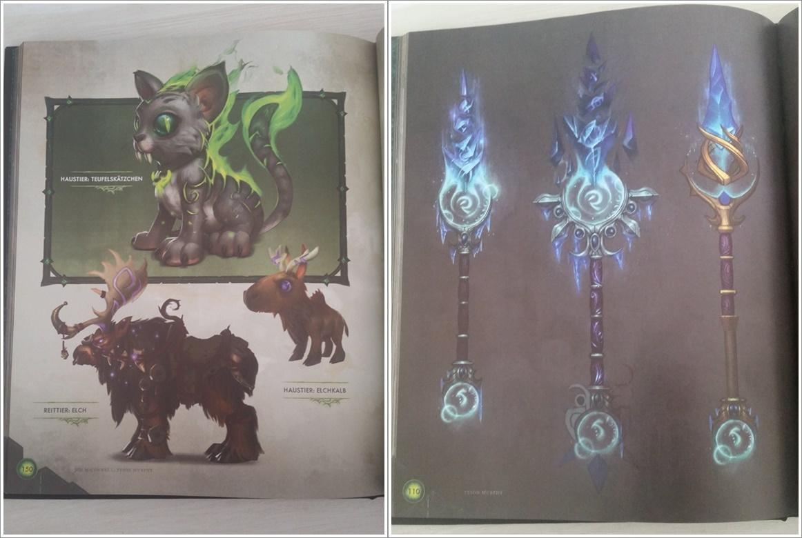 World of Warcraft Legion Collectors Edition Artbook Einblicke