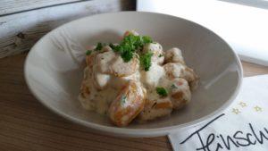 Kürbis-Gnocchi in Käse-Sahne-Sauce