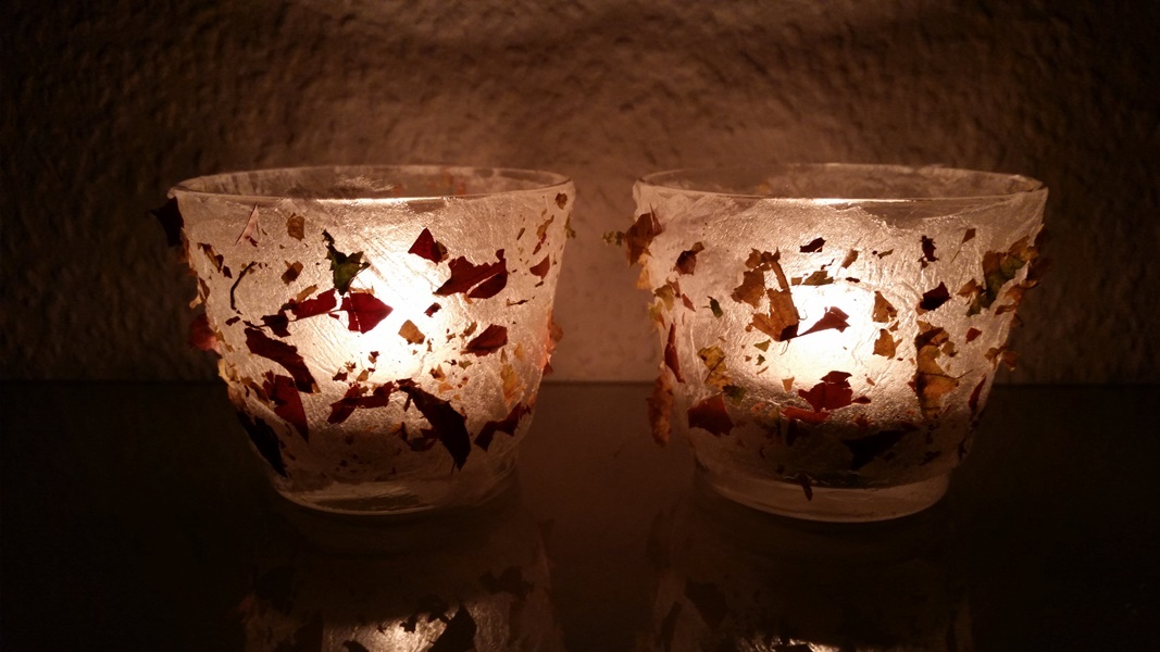 Fertige Pocahontas Farbenspiel Teelichter