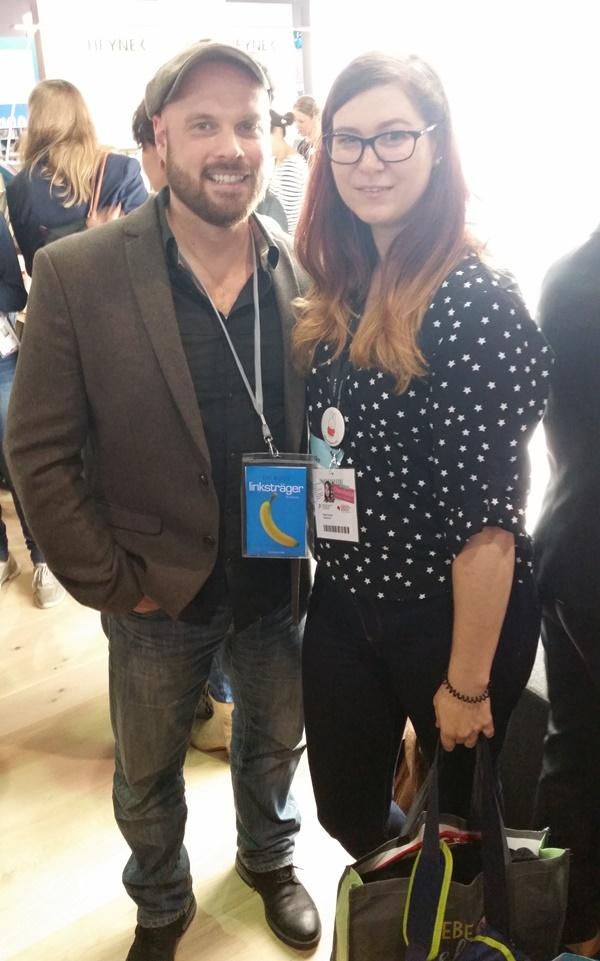 Tim Bolz beim Randomhouse Blog'n'Talk auf der Frankfurter Buchmesse 2016
