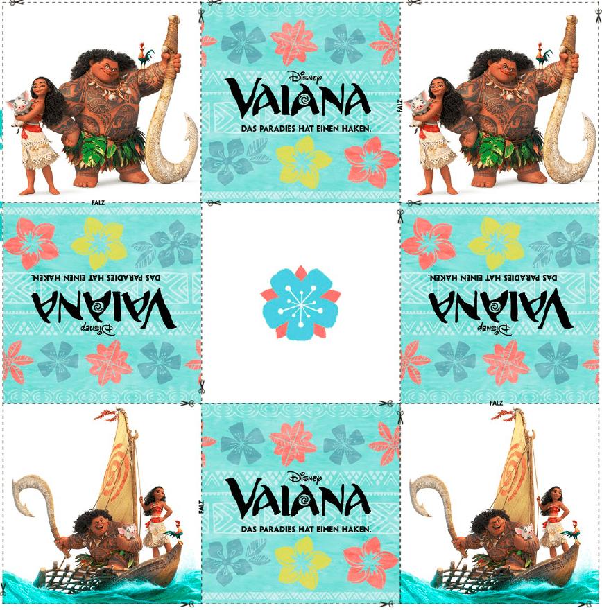 Vaiana Memory Spiel zum selber basteln