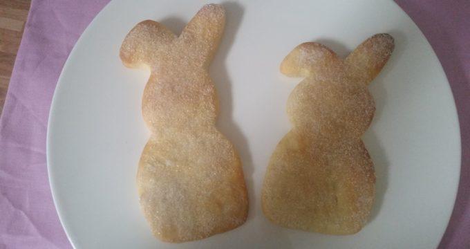 unsere zuckersüßen Osterhasen fürs Osterfrühstück