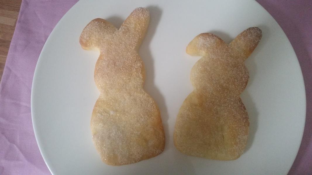 unsere zuckersuessen Osterhasen fuers Osterfruehstueck