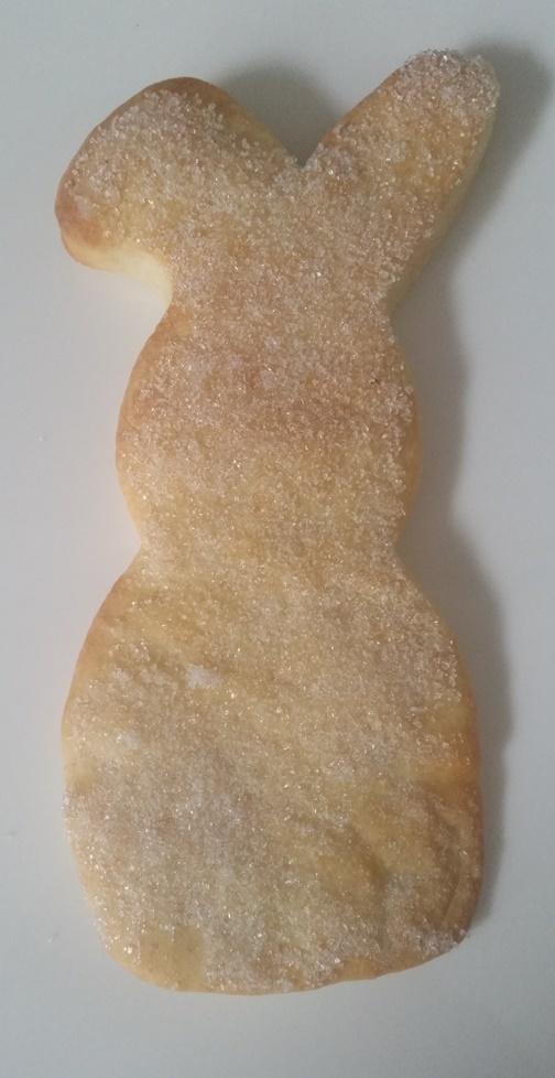 selbstgebackener Osterhase im Zuckermantel