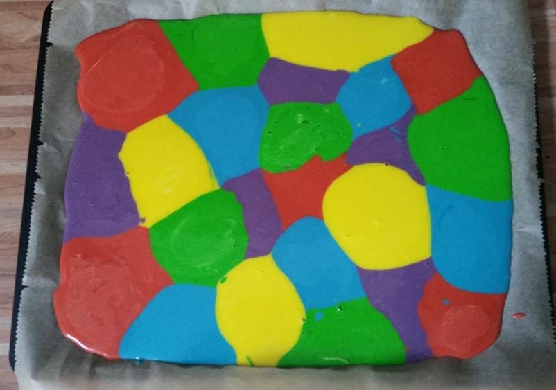 Regenbogen Blechkuchen