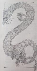 Illustration eines Laubdrachen von Jana Damaris Rech