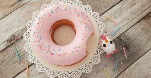 Homer's angeknabberte Donut Torte