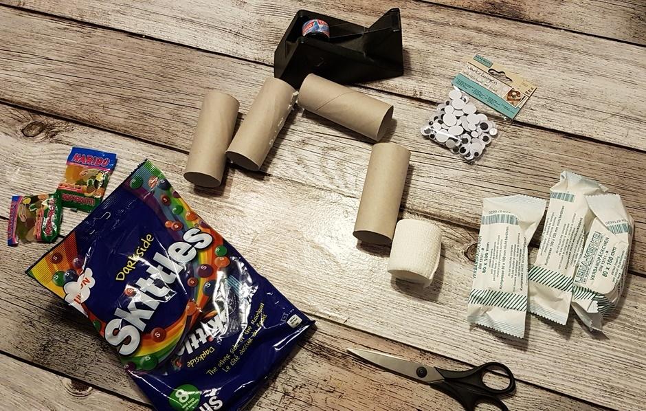 Mumien Pakete fuer Halloween