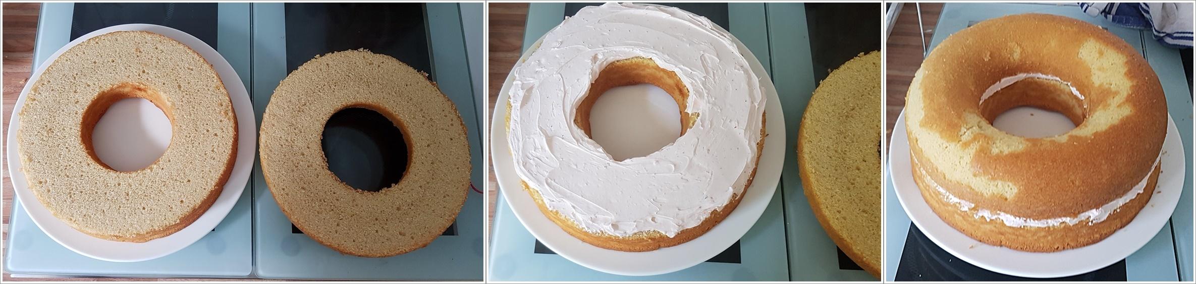 Homers Donut Torte Cremefuellung