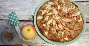 Low Carb Ofenpfannkuchen mit Äpfeln und Streuseln