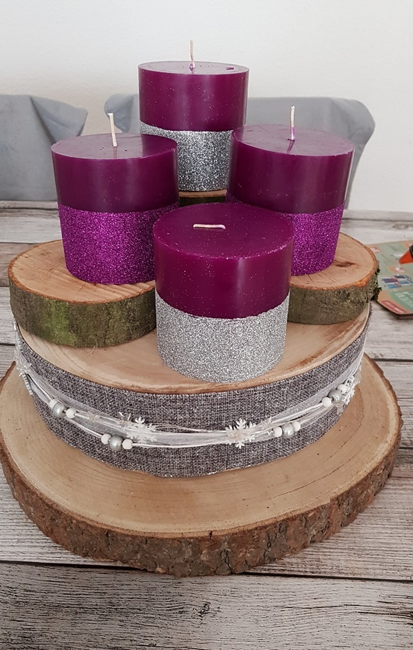 DIY Adventsgesteck mit Juwelkerze