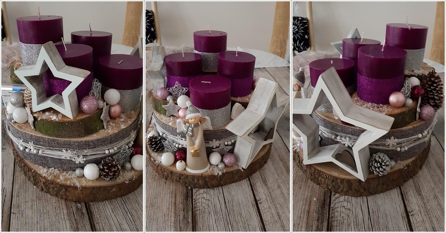eine rundumansicht meines modernen beeren silber und grau diy adventskranz 2017 chaoshoch4. Black Bedroom Furniture Sets. Home Design Ideas