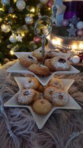 Rezept Engelsaugen schnell und einfach kekse backen mit Marmelade ohne Ausstechen