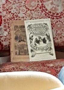Penny Dreadful Heftchen, ausgestellt von Kai Meyer auf einer Lesung zu die Spur der Buecher