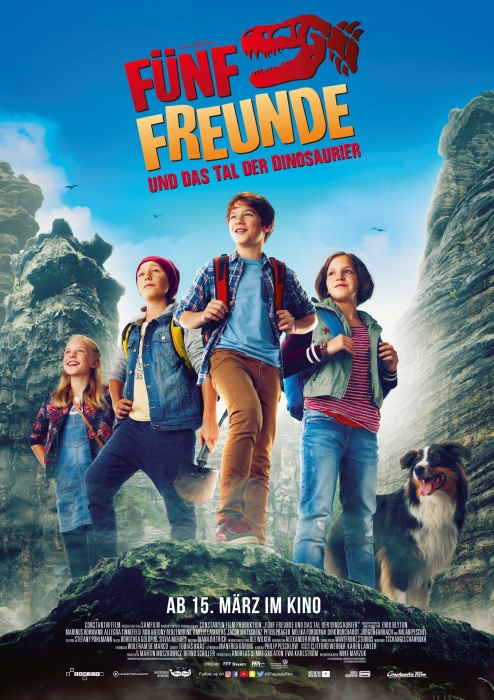 Fuenf Freunde und das Tal der Dinosaurier Kinofilm offizielles Kinoplakat - Preview + Gewinnspiel