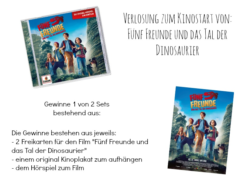 Fünf Freunde und das Tal der Dinosaurier Kinokarten Verlosung