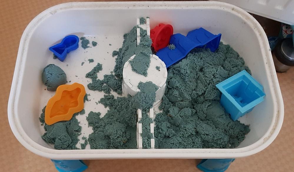 gekaufter Indoor Kinetic Sand nach einem Jahr