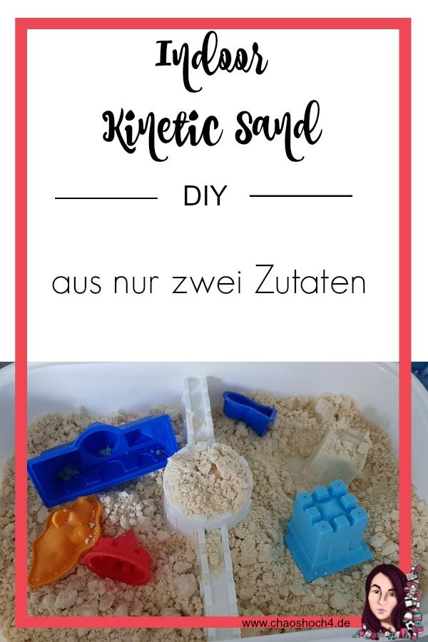 DIY Indoor Kinetic Sand schnell und einfach mit nur zwei Zutaten selbst gemacht