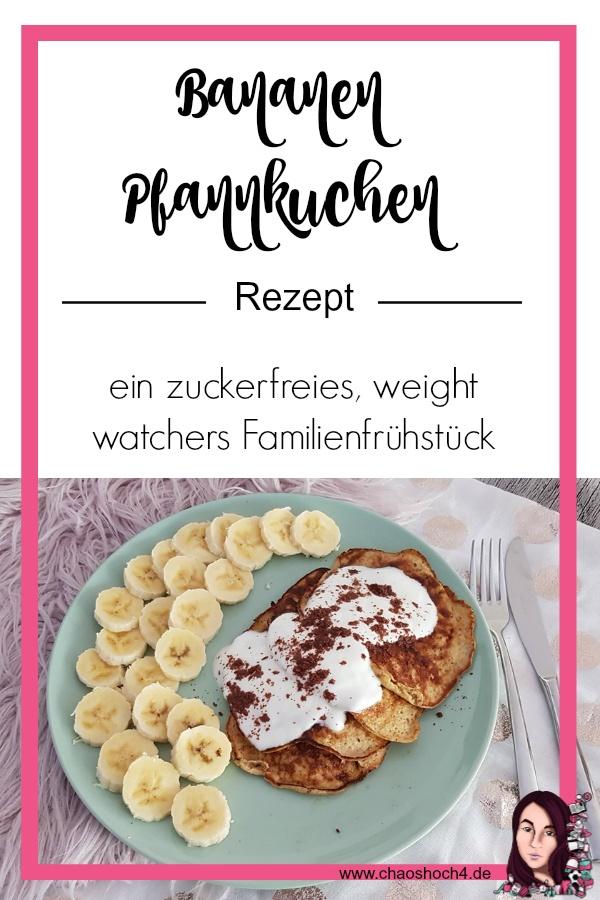 Bananen Pfannkuchen Rezept - ein zuckerfreies weight watchers Rezept fuer die ganze Familie