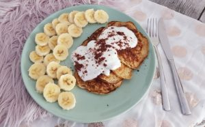 Weight Watchers geeignete Bananen Pfannkuchen