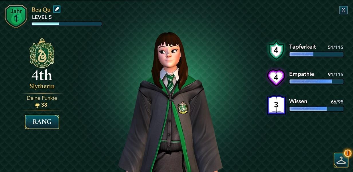 Screenshot Harry Potter Hogwarts Mystery Spielcharakter