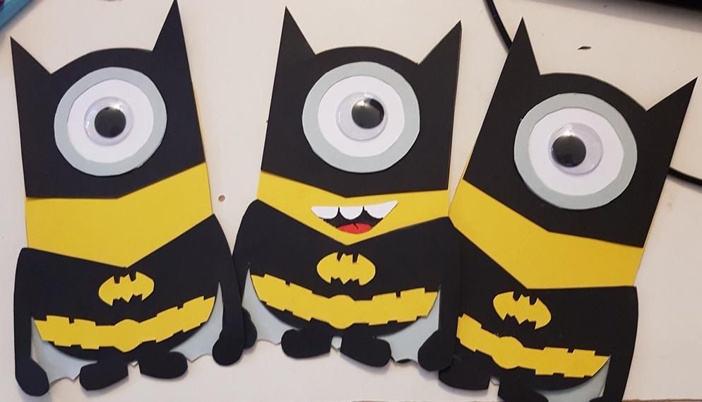 Wackelaugen Batman Minions für selbstgebastelte Minion Schultüte