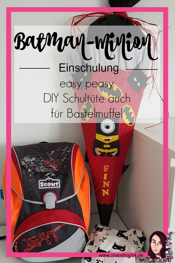 Batman Minion Schultüte selbst basteln DIY