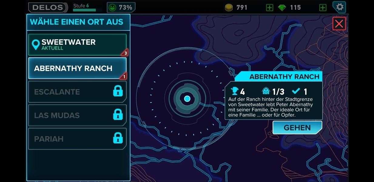 Unterschiedliche Maps ins Westworld