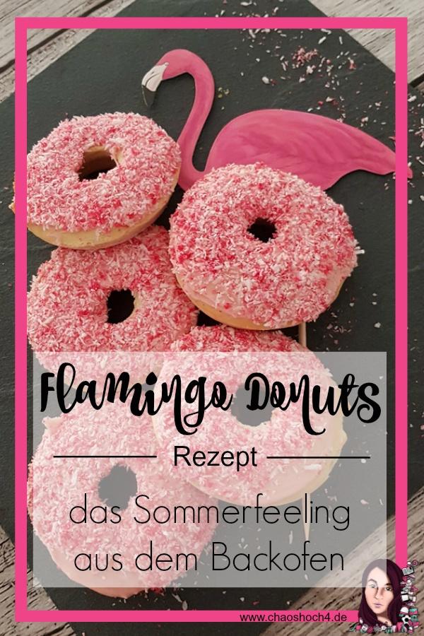 Flamingo Donuts Rezept fuer Donuts aus dem Backofen
