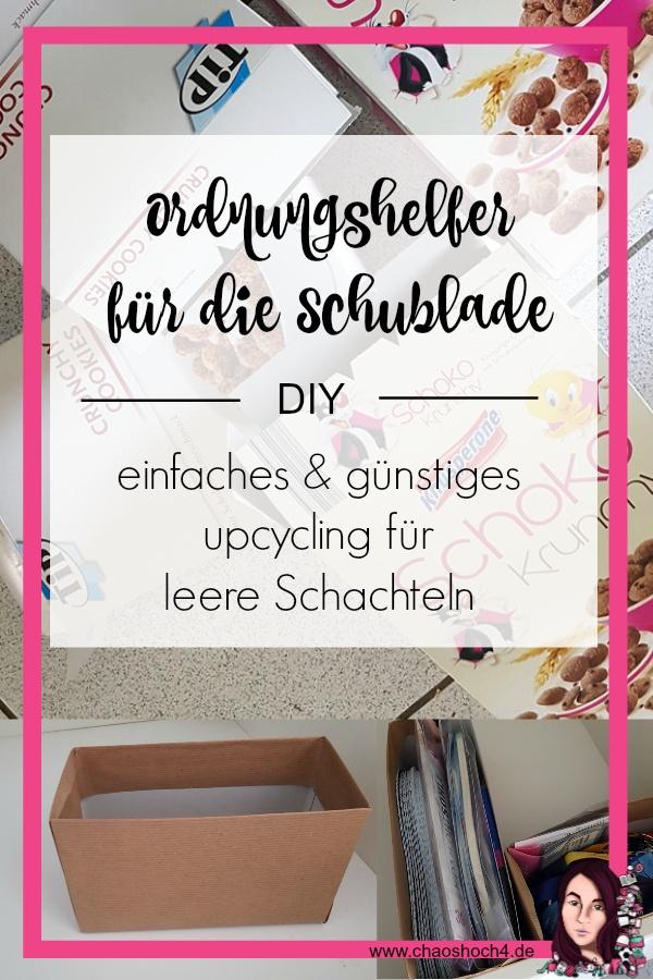 Ordnungshelfer fuer Schubladen DIY upcycling aus leeren Schachteln