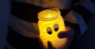 Mumiengläser zu Halloween