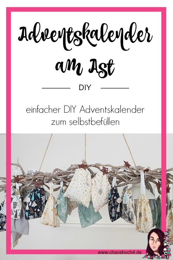 Adventskalender am Ast - DIY von Chaoshoch4