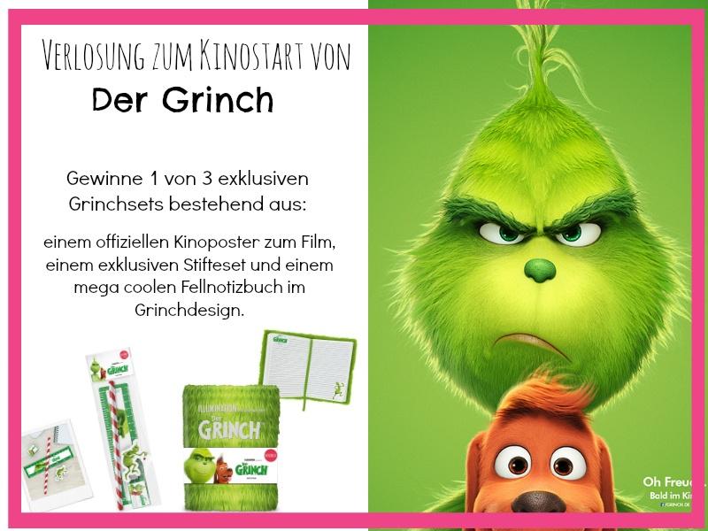 Verlosung zum Kinostart von der Grinch auf Chaoshoch4 exklusive Grinch Merchandise Sets zu gewinnen