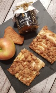 winterlicher Apfelkuchen mit Spekulatiusstreuseln vom Blech - Rezept von Chaoshoch4