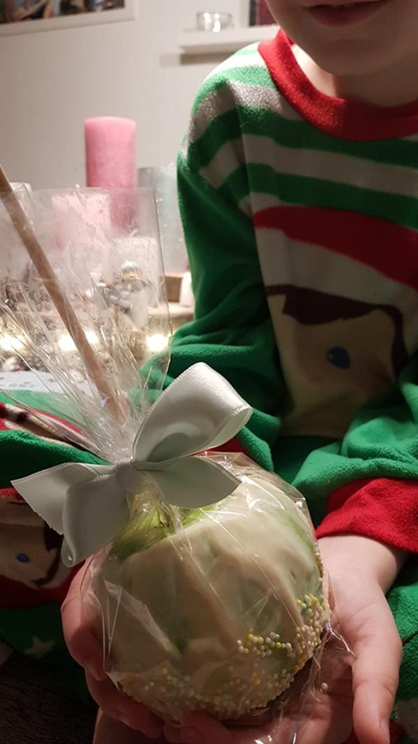 Rezept fuer Schokoladenäpfel wie vom Weihnachtsmarkt im der Grinch Style