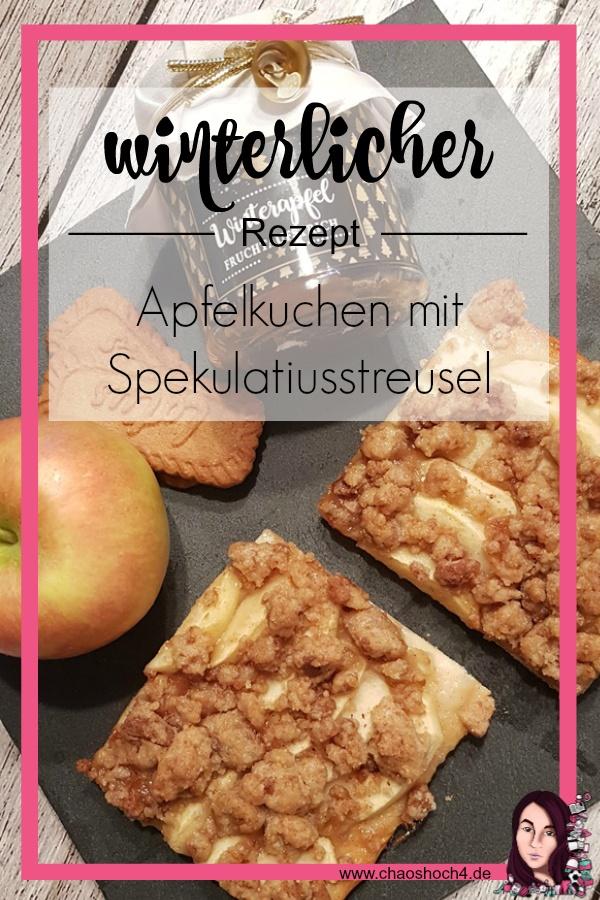 winterlicher Apfelkuchen mit Spekulatiusstreusel Rezept von Chaoshoch4